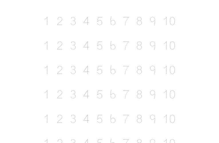 แบบฝึกหัดคัดลายมือ อนุบาล คัดลายมือเลขอารบิก คัดลายมือเลขไทย ตามเส้นประ