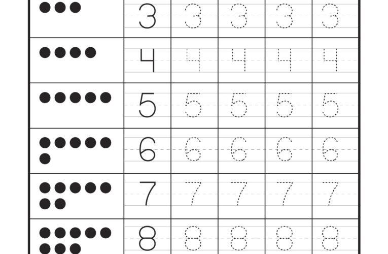 แบบฝึกหัดคัดลายมืออนุบาล คัดลายมือ 1-10 มีสองแบบให้เลือก