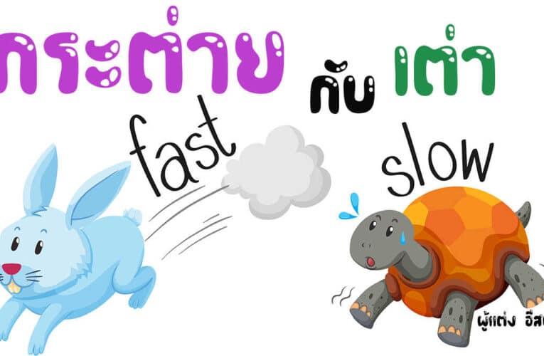นิทานอีสปสั้นๆ เรื่อง กระต่ายกับเต่า สำหรับนิทานก่อนนอน มีคติสอนใจ