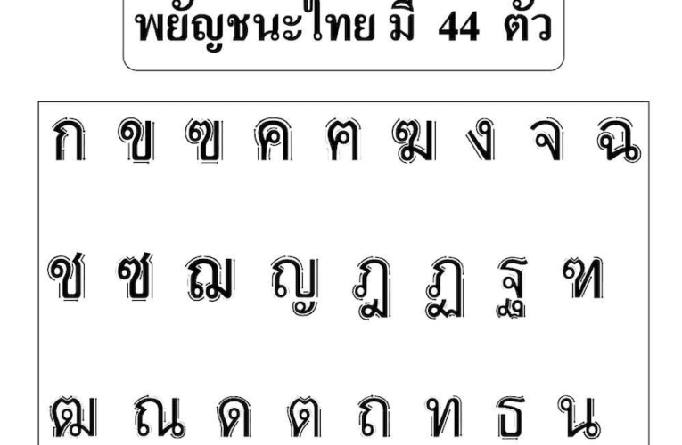 แบบฝึกหัดคัดลายมือ ก-ฮ 44 แผ่น คัดลายมือสระภาษาไทย 30 แผ่น มีภาพประกอบ พร้อมดาวน์โหลดฟรี